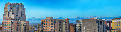 Rooftops Mixed Media - Denver Rooftops Panorama by Angelina Vick