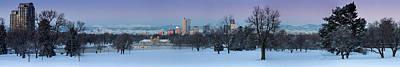 Art Print featuring the photograph Denver Skyline From City Park by Kristal Kraft
