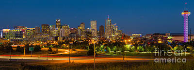 Denver Skyline Photograph - Denver Skyline by Inge Johnsson