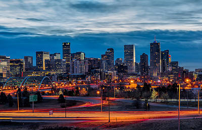Denver Skyline Photograph - Denver Skyline by Nathan Gingles