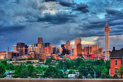 Denver Skyline Art Print by Teri Brown