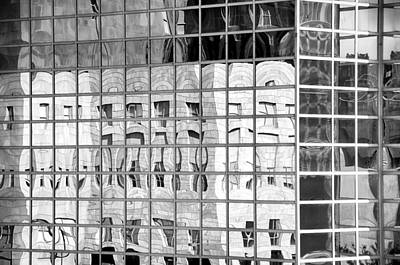 Skyscraper Mixed Media - Denver Skyscraper Reflections 1 Bw by Angelina Vick
