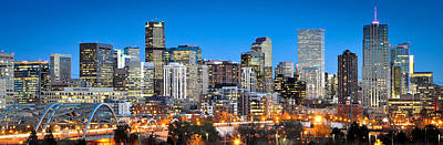 Steel Photograph - Denver Twilight by Kevin Munro