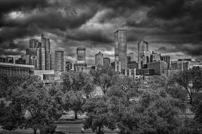 Denver Skyline Photograph - Denver Under Tornado Warning by Medicine Tree Studios