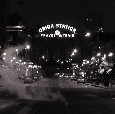Night Scenes Photograph - Denver Union Station Square Image by Ken Smith