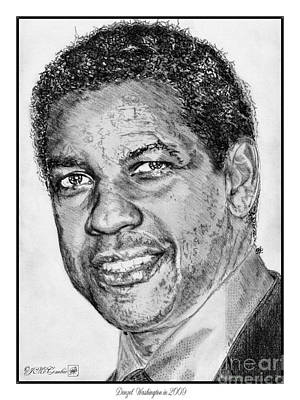 Drawing - Denzel Washington In 2009 by J McCombie