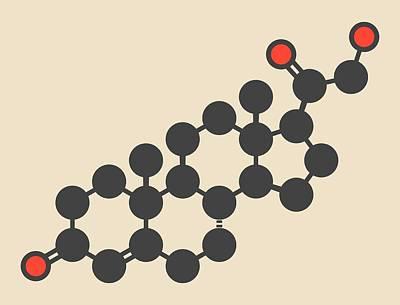Deoxycorticosterone Molecule Art Print