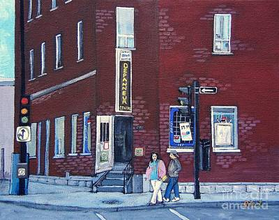 Montreal Buildings Painting - Depanneur Centre Pointe St. Charles by Reb Frost