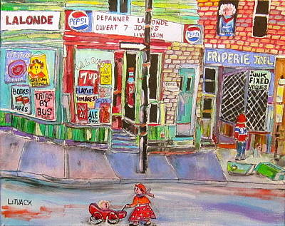 7up Sign Painting - Depanneur Lalonde by Michael Litvack