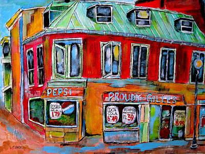Litvack Painting - Depanneur Partnership by Michael Litvack