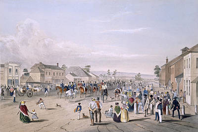 Colony Drawing - Departure Of Captain Sturt by George French Angas