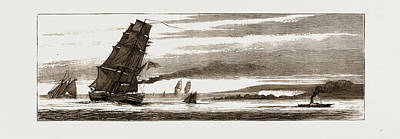 Arctic Drawing - Departure Of The Arctic Expedition The Last Glimpse by Litz Collection