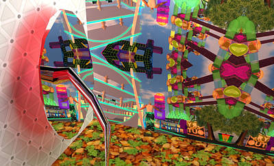 Secondlife Wall Art - Digital Art - Depends On The View by Thomas Olsen
