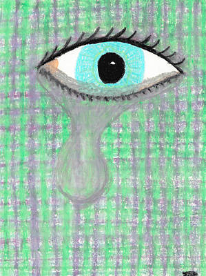 Fine Dining - Depiction of an Eye Crying by Jessica Foster