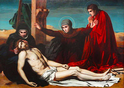 Jesus Christ Digital Art - Deposition Of Jesus Christ by Jean Leon Palliere