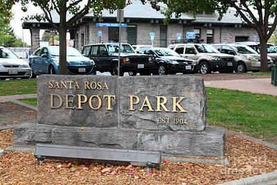 Depot Park At Historic Railroad Square Santa Rosa California 5d25821 Art Print by Wingsdomain Art and Photography