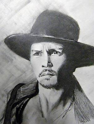 Art Print featuring the drawing Depp by Lori Ippolito