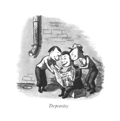 Thief Drawing - Depravity by William Steig