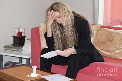 Photograph - Depressed Woman by Gunter Nezhoda