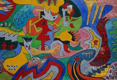 Depth Psychology By Taikan Art Print