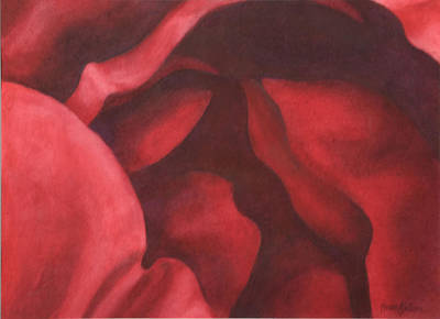 Keef Painting - Depths Of Red by Heidi E  Nelson