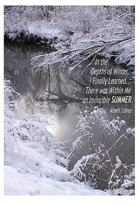 Snow Banks Photograph - Depths Of Winter Invincible Summer by Shawn Shea