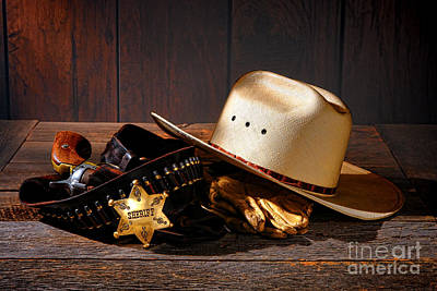 Law Enforcement Photograph - Deputy Sheriff Gear  by Olivier Le Queinec