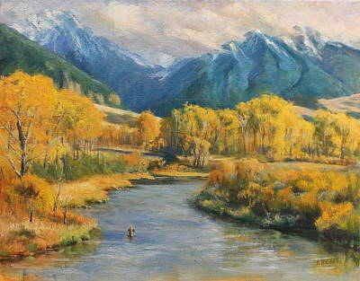 Gallatin Painting - Depuy's Spring Creek by Steve Haigh