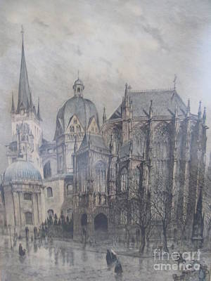 Der Dom - Aachen Germany Art Print