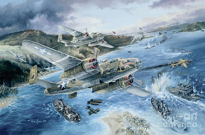 Helicopters Painting - Derailing The Tokyo Express by Randy Green