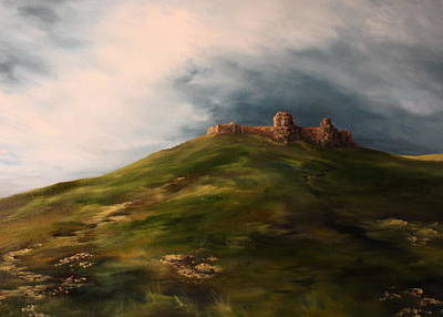 Imprisonment Painting - Deralict Chartley Castle Staffordshire by Jean Walker