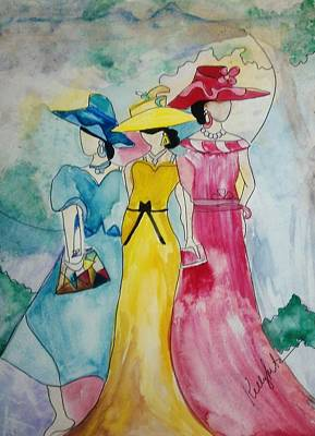 Painting - Derby Ladies by Kelly Turner