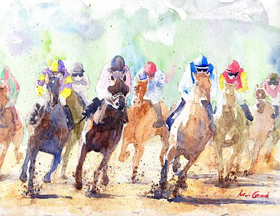 Triple Crown Painting - Derby by Max Good