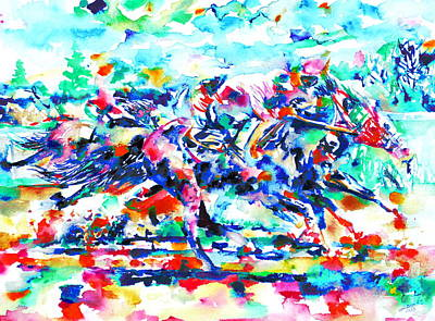 Painting - Derby Race by Fabrizio Cassetta
