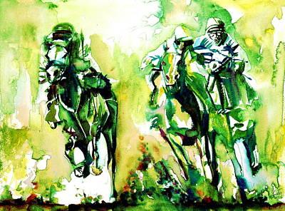 Jockey Painting - Derby Race.1 by Fabrizio Cassetta