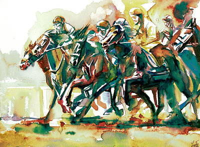 Painting - Derby Race.2 by Fabrizio Cassetta