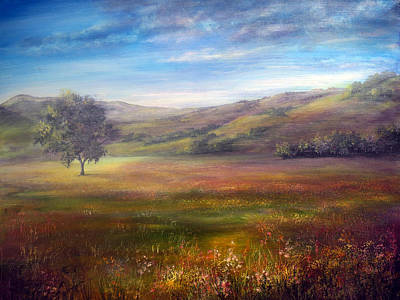 Landscape Painting - Derbyshire Morning by Ann Marie Bone