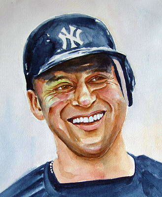 Baseball Art Painting - Derek Jeter by Brian Degnon
