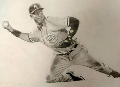 Derek Jeter Original by Ezra Strayer