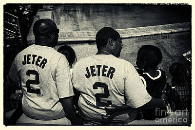 Derek Jeter Family New York City Art Print by Sabine Jacobs