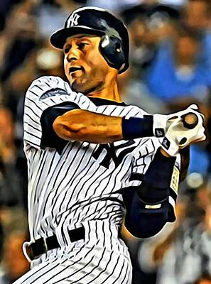 Derek Jeter Photograph - Derek Jeter In Action by Florian Rodarte