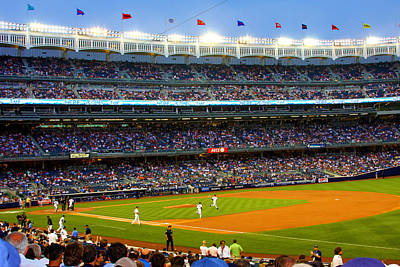 Yankee Stadium Photograph - Derek Jeter Leads The Way As The Yankees Take The Field by Aurelio Zucco