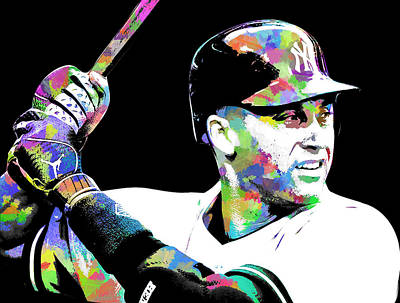 Derek Jeter Digital Art - Derek Jeter by Michael Jadach