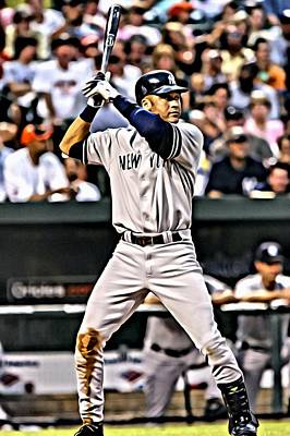 Major Painting - Derek Jeter Painting by Florian Rodarte