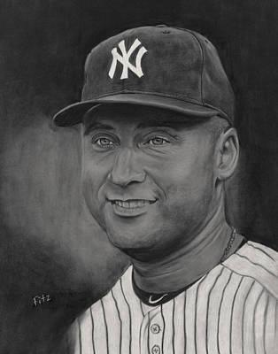 Painting - Derek Jeter by Rick Fitzsimons