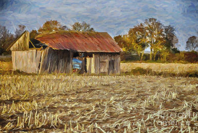 Autumn In The Country Photograph - Derelict Barn by Jutta Maria Pusl