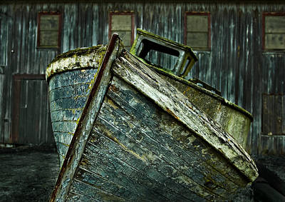 Photograph - Derelict Behind The Old Fish Cannery by Mary Jo Allen