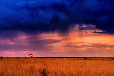 Prairie Sunset Photograph - Derelict by Bryce Bradford