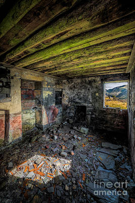 Abandoned Digital Art - Derelict Cottage by Adrian Evans