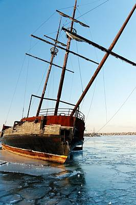 Photograph - Derelict Faux Tall Ship by Trever Miller